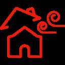 Broken roof icon