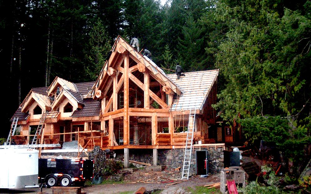 Log cabin roofing contractor